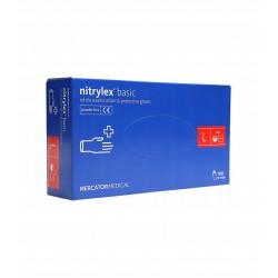 RĘKAWICZKI NITRYLOWE L OP.100 SZT MERCATOR NITRYLEX