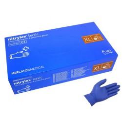 RĘKAWICZKI NITRYLOWE XL OP.100 SZT MERCATOR NITRYLEX